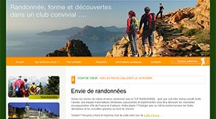 Capture d'écran du site du Touring Club Francilien
